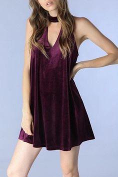 Do & Be Velvet Swing Dress