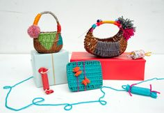 hand painted gift baskets