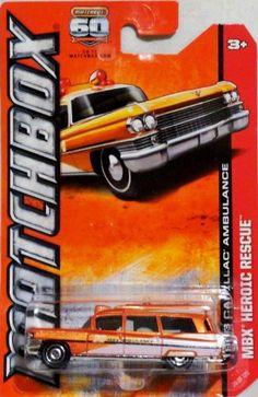Matchbox 1963 Cadillac Ambulance MBX Heroic Rescue New 2012 Org 3 1 64 Cadillac, Ambulance, Matchbox Cars, Hot Wheels Cars, Emergency Vehicles, Fire Trucks, Kids Playing, Diecast, Amazon