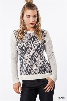 Printed Pull Over Sweater