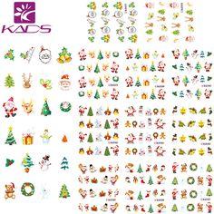 HOTSALE 11Sheet/1 SET Christmas nail sticker DECAL nail art tool for water sticker for  water decals nail art stickers