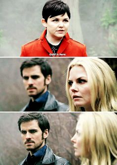 ouat 4x15 - I love that Emma's first instinct is to look at Hook to see how he's taking that news