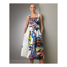 Christian Lacroix   Hand-Painted Dress  -      Christian Lacroix -    Neiman Marcus
