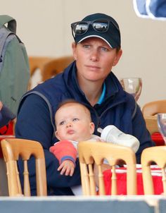 Zara Tindall and her baby daughter Mia spent the day with Autumn Phillips, Princess Anne and Viscount Severn at the Festival of British Eventing at Gatcombe Park - Photo 1   Celebrity news in hellomagazine.com