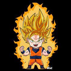 Goku Chibi Yellow Hair With Lighting Dragon Ball Shirts Chibi Goku, Dragon Ball Gt, Vegeta Ssj Blue, Figurine Dragon, Dragons, Chibi Kawaii, Manga Dragon, Chibi Characters, Monkey King