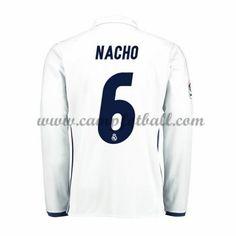 Real Madrid Fotballdrakter 2016-17 Nacho 6 Hjemmedrakt Langermet