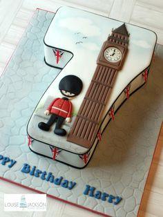 N0.7 London Theme - Cake by Louise Jackson Cake Design