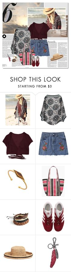 """On the road"" by undici ❤ liked on Polyvore featuring nooki design, Rebecca Minkoff, adidas, Venna and By Terry"