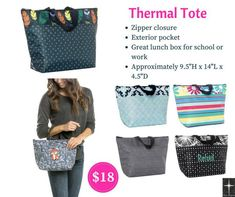 Thermal Tote Fall 2018 by Thirty-One. This thermal lunch tote is perfect for bringing lunch & snacks to school or the office. choose from several fun prints! Thirty One Fall, Thirty One Party, Thirty One Gifts, Thirty One Thermal, Thirty One Business, 31 Gifts, 31 Bags, Lunch Tote, Fun Prints