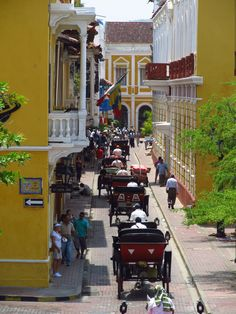 Street in the walled old city of Cartagena, Colombia by Jasperdo