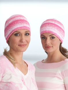 Beautiful chemo caps!! Just click the free download for the free pattern. Perfect for making this month and giving to those in need of these or to a dear friend or loved one going through cancer treatments. Chemo Cap | Yarn | Free Knitting Patterns | Crochet Patterns | Yarnspirations