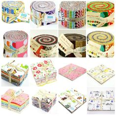 Pre Cut Quilt Fabric including Jelly Rolls, Rolie Polies, Charm Squares, FQ Bundle and Layer Cakes