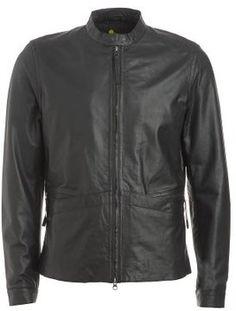 Pretty Green Jacket, Black Leather Biker Jacket on shopstyle.co.uk