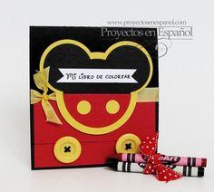 Coloiring book de Mickey Mouse para los mas chicos de la fiesta