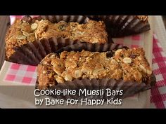 Cookie like Muesli Bars Slices