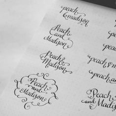 Calligraphy Logo: Peach & Madison - happy hands project
