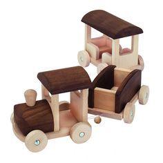 Woodworking Training Stort Tåg i Trä med Vagnar Goki Nature - Bern, 71 cm Wooden Toy Train, Wooden Toy Cars, Wooden Plane, Wood Toys, Woodworking Toys, Woodworking Projects, Toys For Boys, Kids Toys, Classic Toys