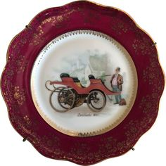 French Limoges Decorative plate with Lanchester 1895  sc 1 st  Pinterest : french decorative plates - Pezcame.Com