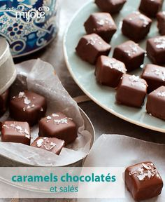 Make these salty-sweet caramels for your loved ones this Valentine's Day. Super easy and oh-so yummy, you're sure to get all the love with this thoughtful homemade gift from the heart. Click or tap photo for this Salted Chocolate-Covered Caramels Caramel Recipes, Candy Recipes, Baking Recipes, Sweet Recipes, Salted Chocolate, Chocolate Caramels, Yummy Treats, Delicious Desserts, Sweet Treats