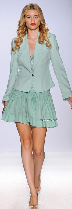 Gattinoni Spring Summer 2011 Ready to Wear - Pastel Mint Green