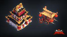 Samurai Siege Castle and Fireworks Vendor, Stoyan Dimitrov on ArtStation at https://www.artstation.com/artwork/samurai-siege-castle-and-fireworks-vendor