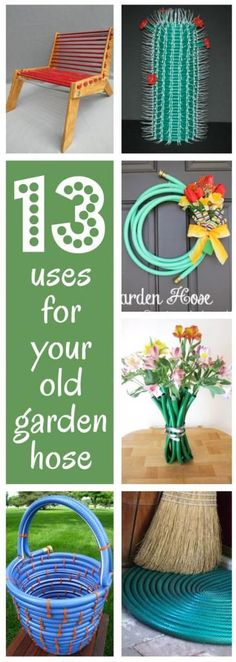 13 uses for your old garden hose