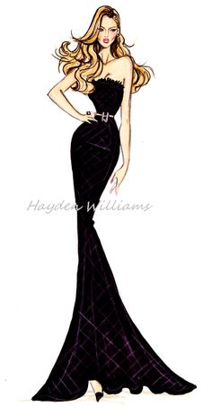 Hayden Williams for Modelinia: Color Me Model: Hayden Williams Animates Our Favorite Girls! Anne Vyalitsyna.