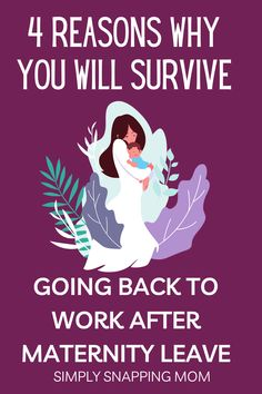 You will survive going back to work after maternity leave. I know it may not feel like it, but these are the 4 reasons why you will actually thrive once you get used to it. Great tips for working moms struggling with guilt of returning to work. Parenting Articles, Return To Work, After Baby, Mom Advice, Back To Work, Working Moms, Mom Humor, Maternity