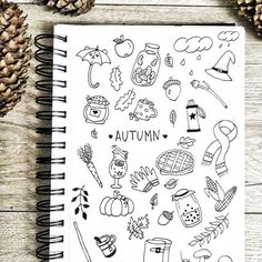 🇬🇧Eng Doodle of the week. Some cute doodles to use in autumn spreads 😊🍁🍂 🇷🇺Рус Дудл недели. Симпатичные штучки для осенних разворотов 😊🍁🍂 #дудлинг #дудлы #дудл #осень #doodleart #doodlelove #doodleoftheday #doodleoftheweek #handdrawn #autumndoodles #bujoideas #bulletjournalinspiration #bulletjournalspread #bujogram #bujobeauty Bullet Journal Cover Page, Bullet Journal Tracker, Bullet Journal Themes, My Journal, Bullet Journal Inspiration, Planner Doodles, Notebook Doodles, Notebook Art, Doodle Art Journals