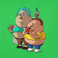 Fat Cartoon Characters, Cartoon Art, Cute Doodle Art, Cute Doodles, Marvel Cartoons, Cool Cartoons, Fat Character, Character Design, Alex Solis