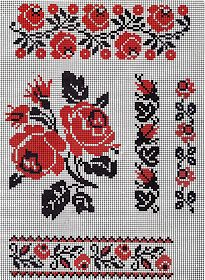 Discover thousands of images about FolkCostume&Embroidery: Ukrainian Rose Embroidery Cross Stitch Rose, Cross Stitch Borders, Cross Stitch Flowers, Cross Stitch Charts, Cross Stitching, Cross Stitch Patterns, Hand Embroidery Tutorial, Folk Embroidery, Cross Stitch Embroidery