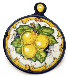 TOSCANA: Old Fashion Round Trivet Dec Limone Barocco