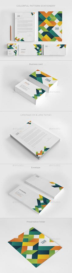 Colorful Pattern Stationery - Stationery Print Templates
