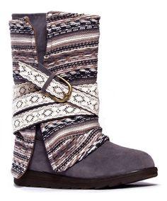 Another great find on #zulily! Gray Nikki Belt-Wrapped Boot - Women by MUK LUKS #zulilyfinds