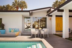 I love this mid century home. ---- Colorful Modern Mix by Joel Dessaules Design