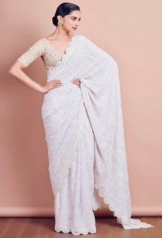 Deepika Padukone in beautiful white saree White Saree, Saris, Beautiful Saree, Saree Wedding, Wedding Dresses, Latest Designer Sarees, Latest Sarees, Designer Dresses, Designer Wear