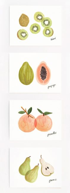 'Assorted Fruit' card set by Rifle Paper Co.