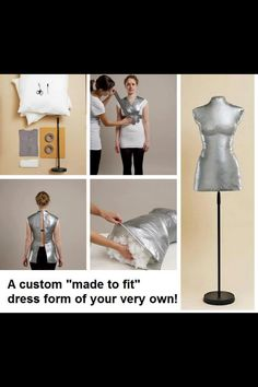 DIY Mannequin so you can continue to DIY ha! Love this!!! Wish I would have saw this years ago!