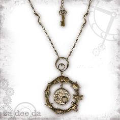 Evolution Animal Steampunk Necklace - Za Dee Da - The Mad Scientist Collection - Evolution in Time. $72.00, via Etsy.