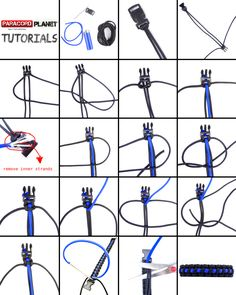 "#ParacordChallenge---Difficulty Level: Easy!  In honor of Police Awareness Week, we proudly present to you the pictorial for this ""Thin Blue Line Bracelet."" Grab some cord and get crafting! You'll love the way this looks, and its for a great cause. Happy Cording :)  #paracord   #tutorials   #tying   #knotting   #crafting   #thinblueline   #police   #awareness   #week   #design   #diy   #howto   #paracordial   #pictorial"