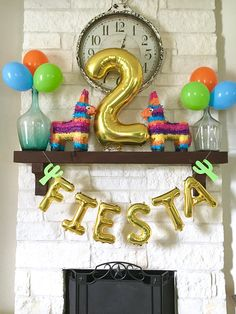 Taco twosday birthday party decor - fiesta party decor - fiesta birthday party - second birthday - pinata - cactus party decor - fiesta