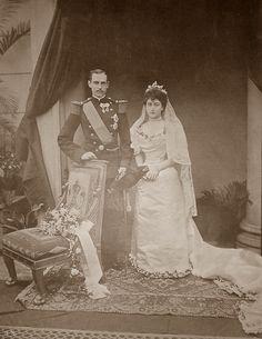 King Haakon and Queen Maud of Norway Princess Victoria, Queen Victoria, Princess Diana, Maud Of Wales, Emperor Of India, Norwegian Royalty, Danish Royalty, Royal Weddings, Edwardian Fashion