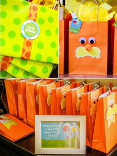Lorax Birthday Party Favors