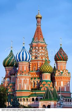 St Basil Russian Orthodox Church | ... of the Orthodox Cathedral of St Basil in Red Square in Moscow, Russia