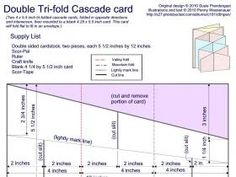 Pin  Of   Template For A Fancy TriFold Card  See Card In