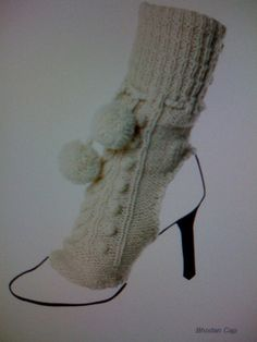 . #knit #spats #pompom shoe