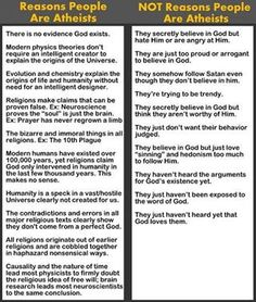 Reasons people are atheists.