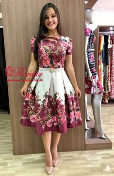 Swans Style is the top online fashion store for women. Shop sexy club dresses, jeans, shoes, bodysuits, skirts and more. Modest Outfits, Modest Fashion, Dress Outfits, Casual Dresses, Short Dresses, Fashion Outfits, Flowery Dresses, Pretty Dresses, Beautiful Dresses
