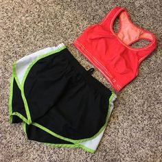 Workout Bundle  Both included! Both size Medium! Excellent condition. Worn once. No stains or rips. Ships immediately! PINK Victoria's Secret Shorts