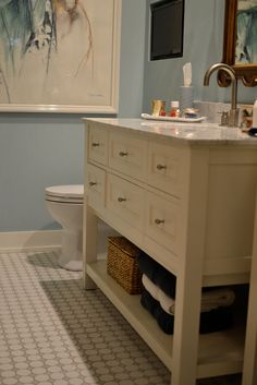 bathroom vanity done by Duca Tile and Stone